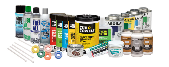 A grouping of Gasoila products