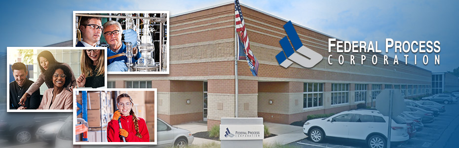 Federal Process Corporation exterior with images of employees.